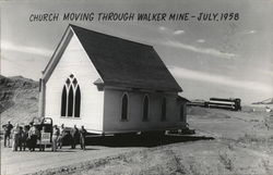 Church Moving Through Walker Mine - July, 1958