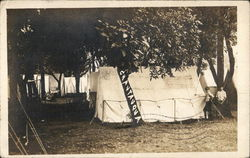 Row of Tents for Chautauqua Postcard