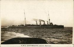 H.M.S. Dartmouth leaving Barrow