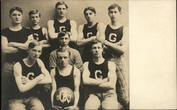 Gardner High School Basketball Team 1907 Postcard