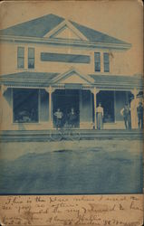 People on Porch of Residence Postcard