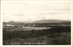 Tupper Lake Village and Santanoni Range
