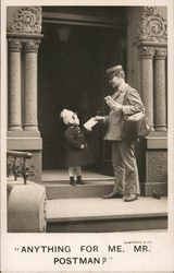 Girl Accepting Letter From Postman