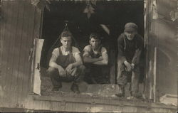 Three Men In a Barn Window