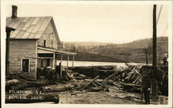 Flood Damage Nov. 4, 1927 Postcard