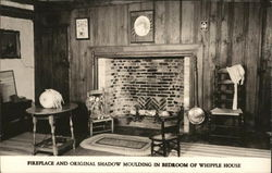 Fireplace and Original Shadow Moulding in Bedroom of Whipple House