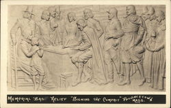 "Memorial Bas Relief ""Signing The Compact"""