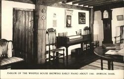 The Whipple House - Parlor showing Early Piano