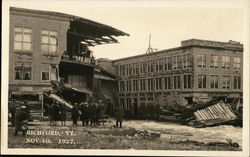 Damage from the Flood - November 4, 1927 Postcard