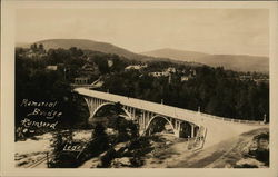 Memorial Bridge - Bird's-Eye View Postcard