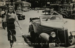Scene from Peyton Place on Main St. Postcard