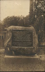 Large Rock Commemorating Captain William Turner of Boston