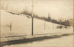 Railroad Crossing in the Snow