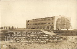 The Hangar at Lakehurst Circa 1924