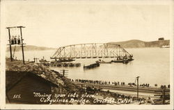 Carquinez Bridge - Moving Span into Place