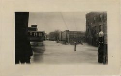 Flood Damage - Bridge out - November 4, 1927 Postcard
