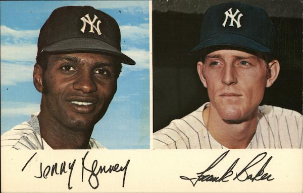 <b>Jerry Kenney</b> and Frank Baker - New York Yankees Baseball - card00009_fr