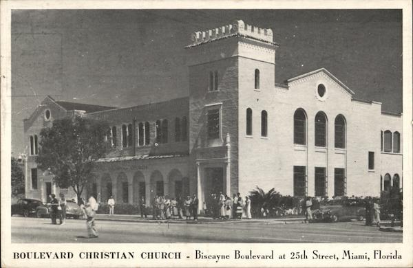 Boulevard Christian Church, Biscayne Blvd. at 25th Street Miami Florida