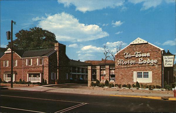 In Town Motor Lodge Elizabeth Nj Postcard