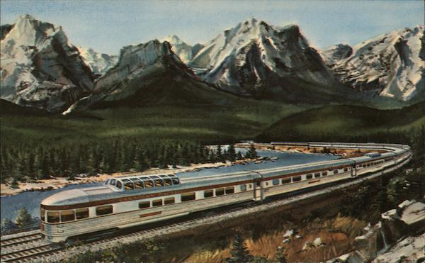 Canadian Pacific Railway showing Scenic-Dome Observation Car