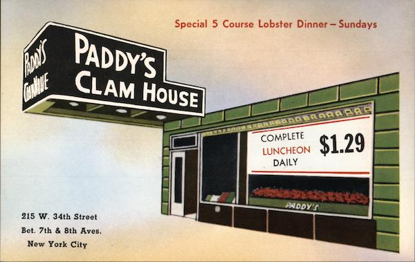 Paddy's Clam House New York City