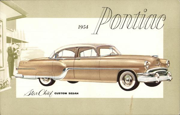 1954 Pontiac Star Chief Custom Sedan Cars