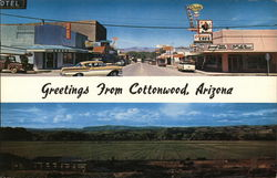 Greetings from Cottonwood, Arizona - Two Photos