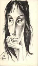 Pencil Drawing of Woman