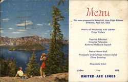 Crater Lake - United Airlines Menu