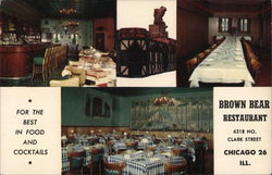 Brown Bear Restaurant Postcard