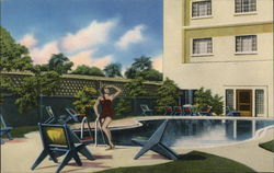 Patio and Swimming Pool of The San Alberto Hotel