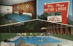 Ritz Plaza Motor Lodge Postcard