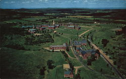 Airview of the Colby Cottage Campus on Mayflower Hill