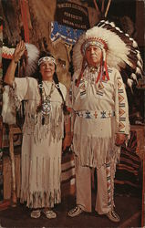 Chief Half Moon and Princess Goldenrod - Piute & Penobscot Tribes