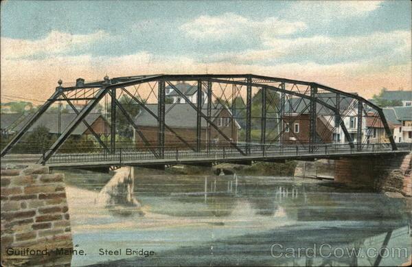 Steel Bridge Guilford Maine