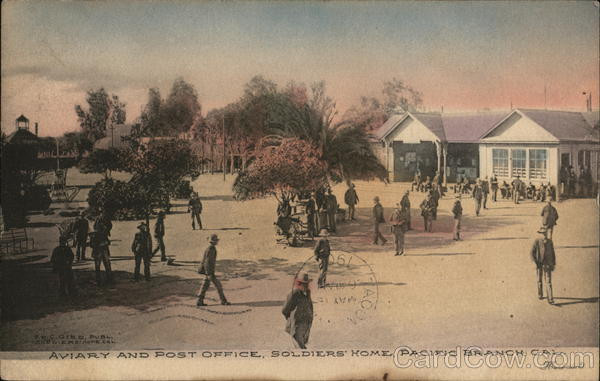 Aviary and Post Office, Soldiers' Home, Pacific Branch Los Angeles California