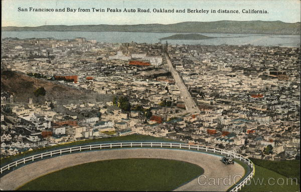 Aerial View of City San Francisco California