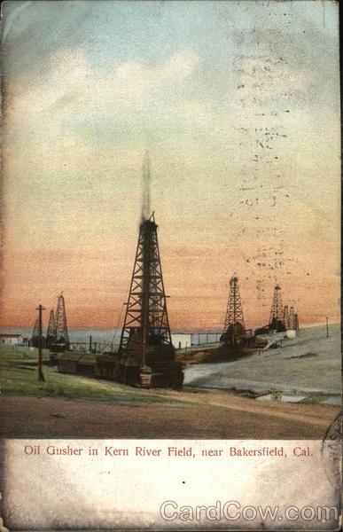 Vintage Chrome Postcard Street Scene Inyokern CA Kern
