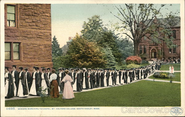 Seniors Marching to Chapel, Mt. Holyoke College South Hadley Massachusetts