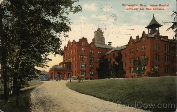 Insane Hospital, Drive-way and Main Entrance Northampton Massachusetts