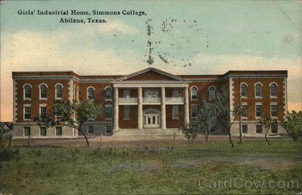 Girls' Industrial Home, Simmons College Abilene Texas