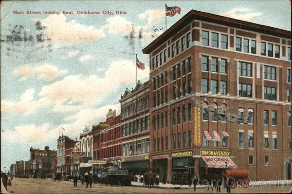 Main Street, Looking East Oklahoma City
