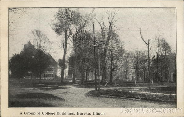 A Group of College Buildings Eureka Illinois