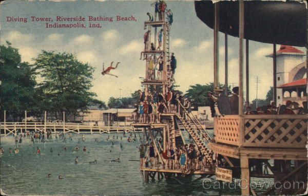 Diving Tower, Riverside Bathing Beach Indianapolis