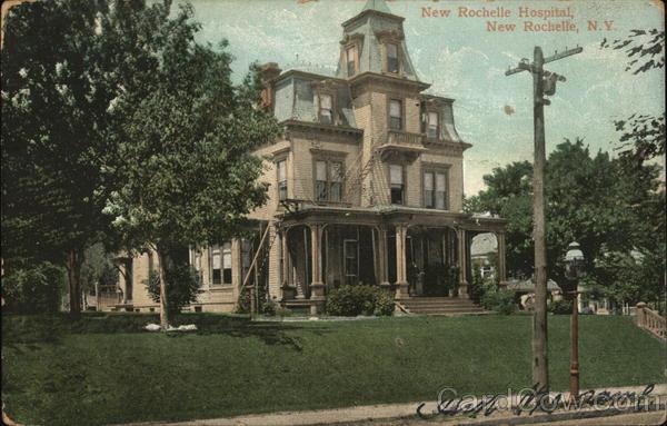 new rochelle hospital new york postcard. Black Bedroom Furniture Sets. Home Design Ideas