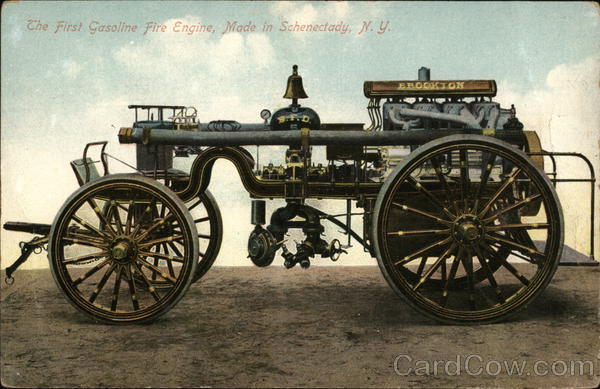 The First Gasoline Fire Engine, Made in Schenectady New York