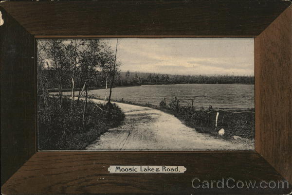 Moosic Lake and Road Mount Cobb Pennsylvania