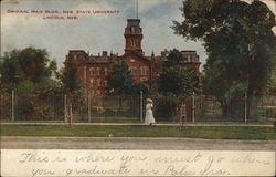 Nebraska State University - Original Main Building