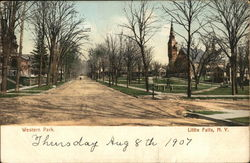 View of Western Park Postcard