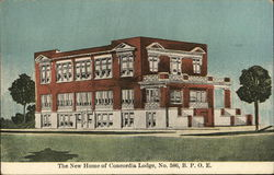 New Home of Concordia Lodge, No.586, B.P.O.E. Postcard